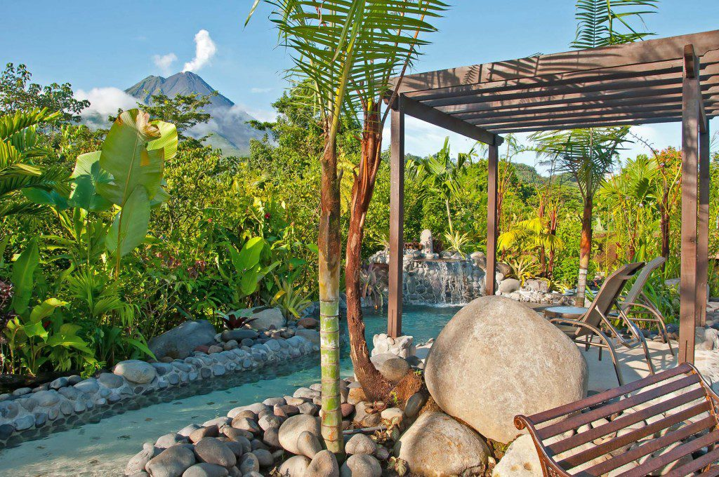 The pool and hot springs at Arenal Springs Resort & Spa, Costa Rica