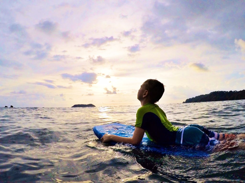 Boogie Boarding at Manuel Antonio Beach, Costa Rica