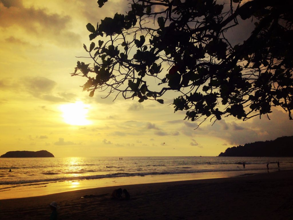 Sunset on Manuel Antonio Beach, Costa Rica