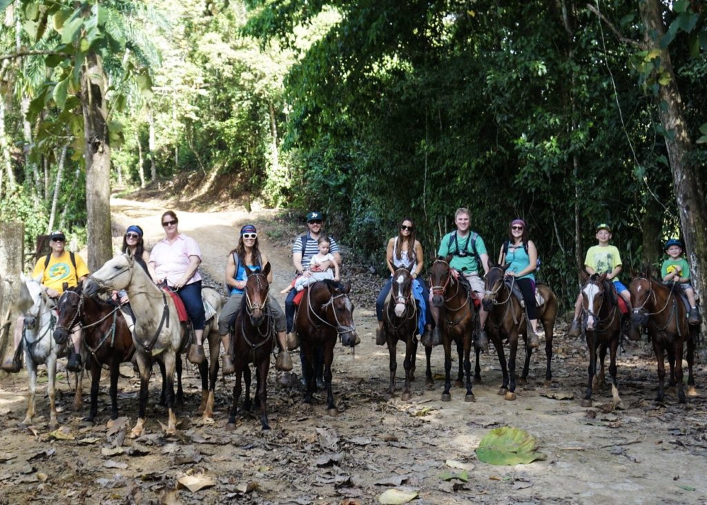 Horseback riding to Nauyaca Waterfalls, Costa Rica