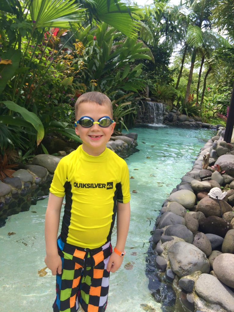 Kid at Arenal Springs Resort, Costa Rica