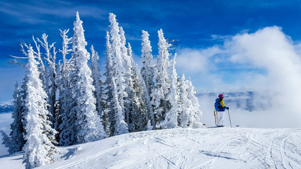 Skiing at Tamarack Resort Idaho