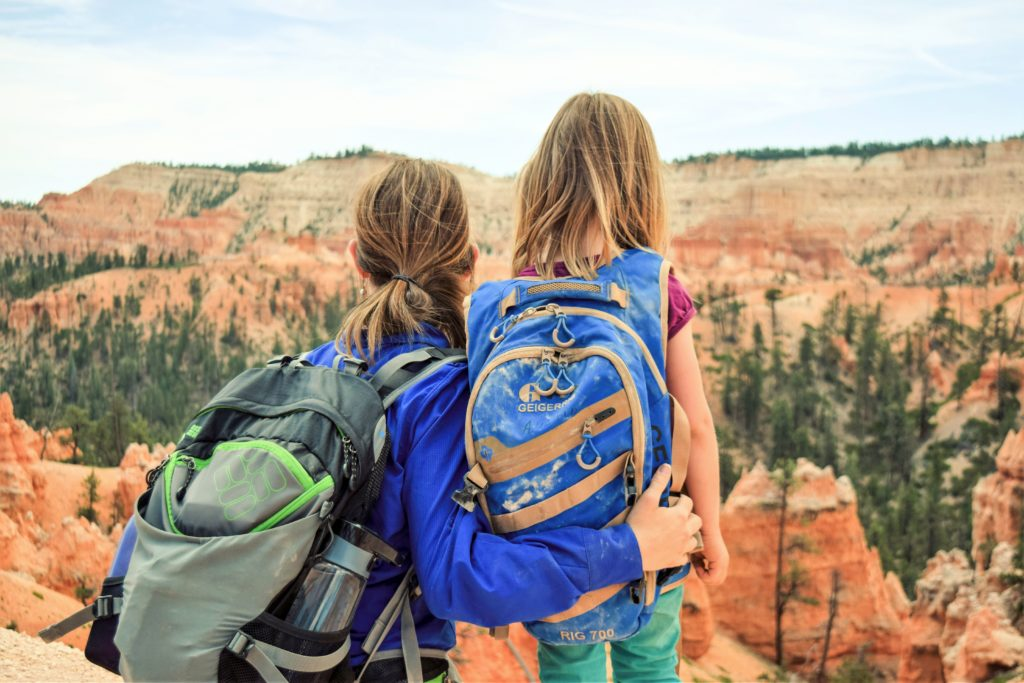 Stopping to enjoy the view on Queens Garden Loop at Bryce Canyon National Park, Utah