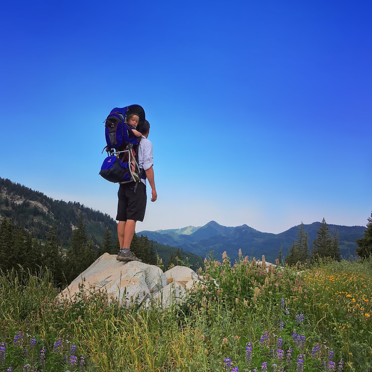 Hiking with toddler in Wasatch mountains, Utah