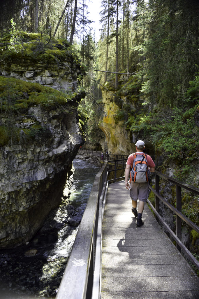Hiking Johnston Canyon trail, Banff, Alberta, Canada