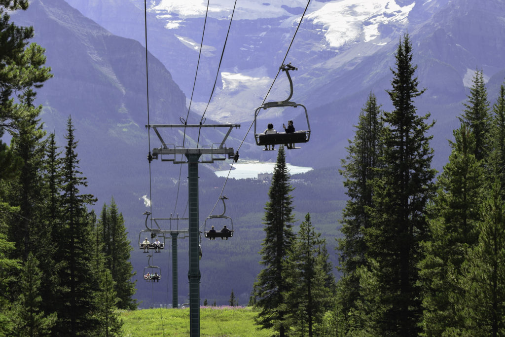 Chairlift at Lake Louise Ski Resort, Banff Alberta Canada