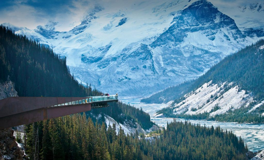 Glacier Skywalk at Columbia Icefields, Jasper National Park, Alberta Canada
