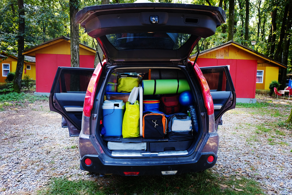 Camping Gear In Trunk Of Car