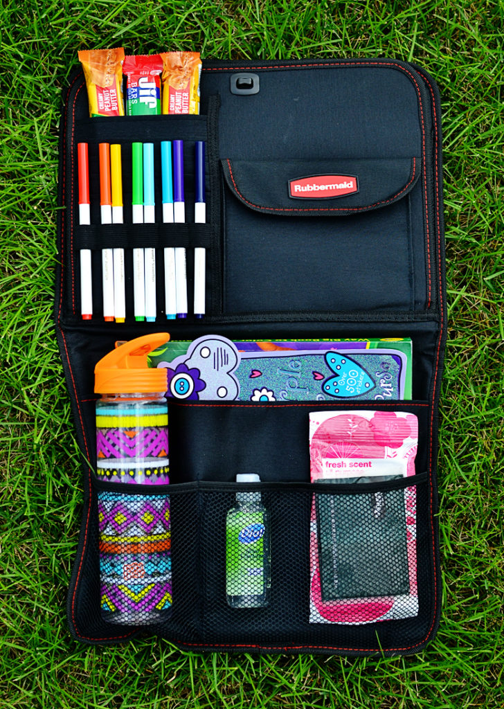 Road trip kit and organizer for kids