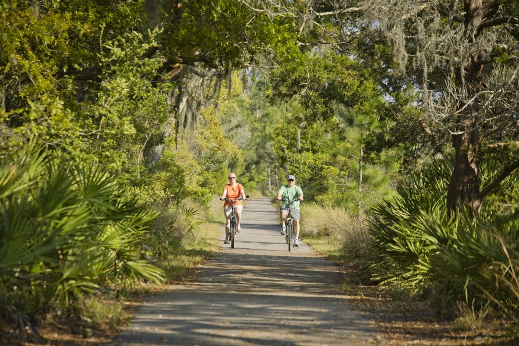 Biking on Jekyll Island. Courtesy of