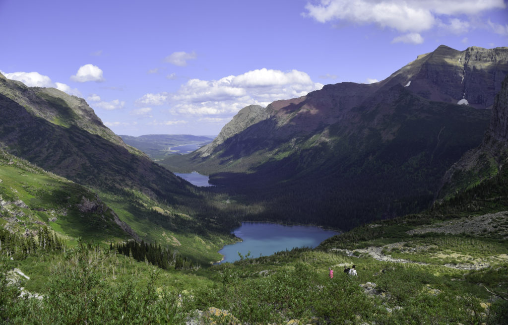 Grinnell Lake seen from Grinnell Glacier trail in Glacier National Park, MT