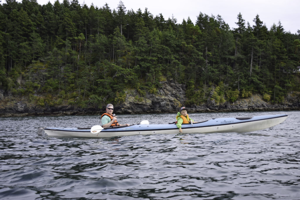 Kayaking around Orcas Island, San Juan Islands, Washington