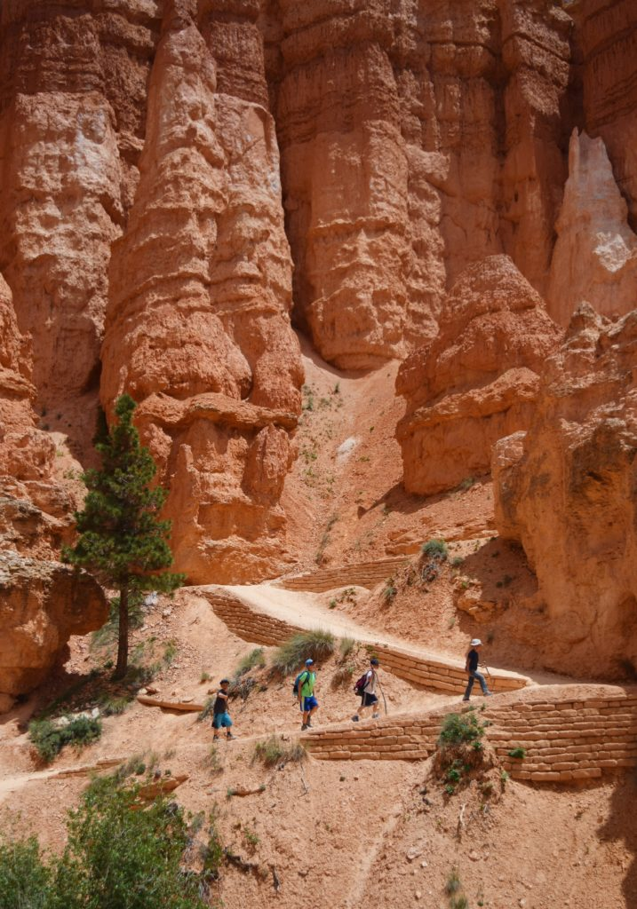 Hiking up Queens Garden Loop in Bryce Canyon National Park, Utah