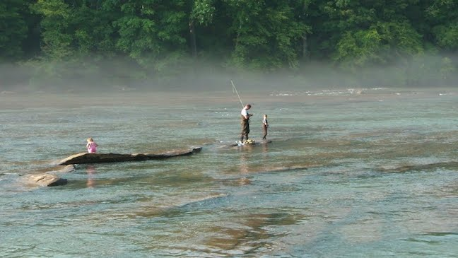 Fly fishing on the Chattahoochee River, GA