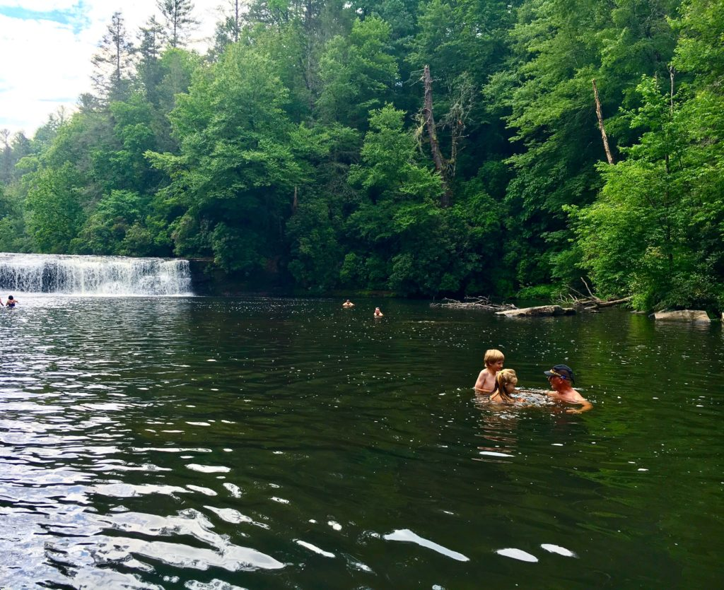 Swimming hole at Hooker Falls, DuPont Forest, NC