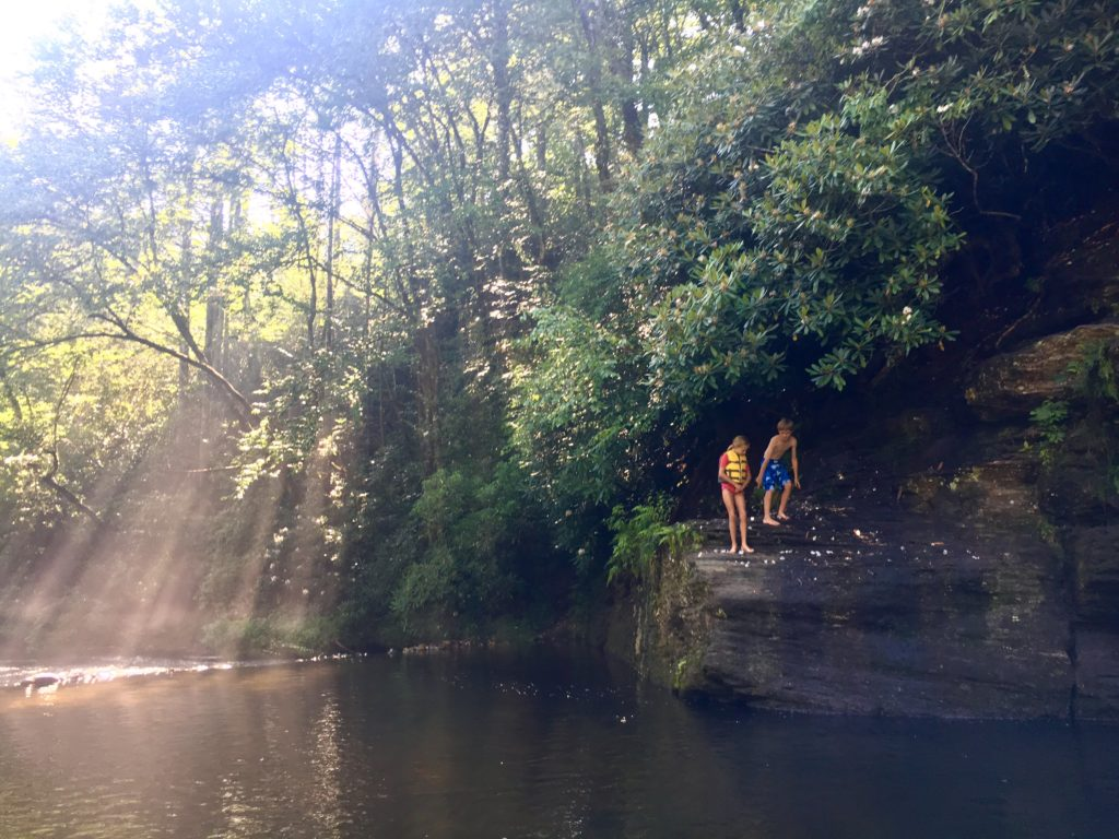 Swimming holes found in Brevard, NC