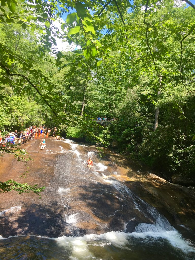 Pisgah national forest sliding rock