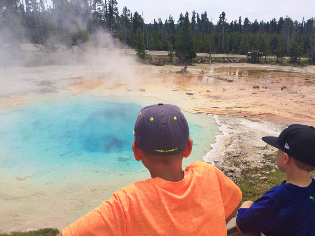 Hot springs in Yellowstone National Park, Wyoming