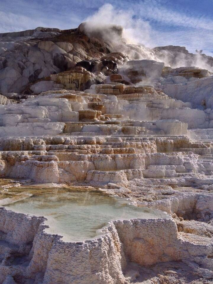 Mammoth Hot Springs, Yellowstone National Park WY