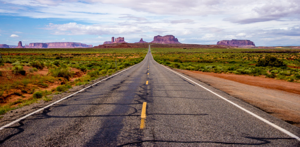 Highway to Monument Valley, Arizona