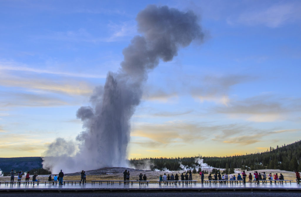 Old Faithful eruption, Yellowstone National Park