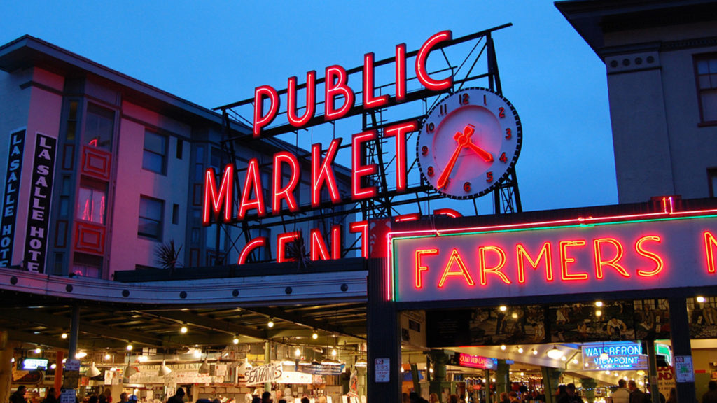 Pike's Market in downtown Seattle