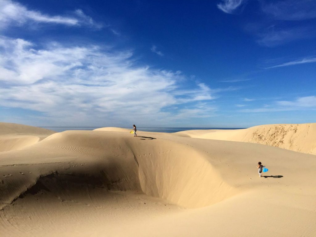 Oceano Sand Dunes near Pismo Beach, California.