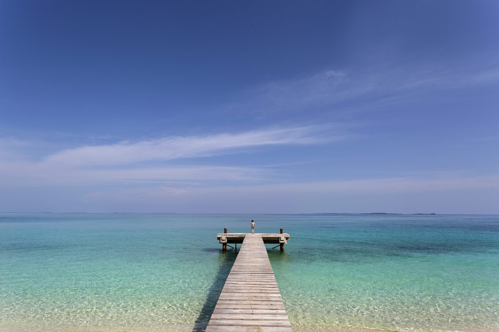A pier in the Banyak Islands, Sumatra, Indonesia