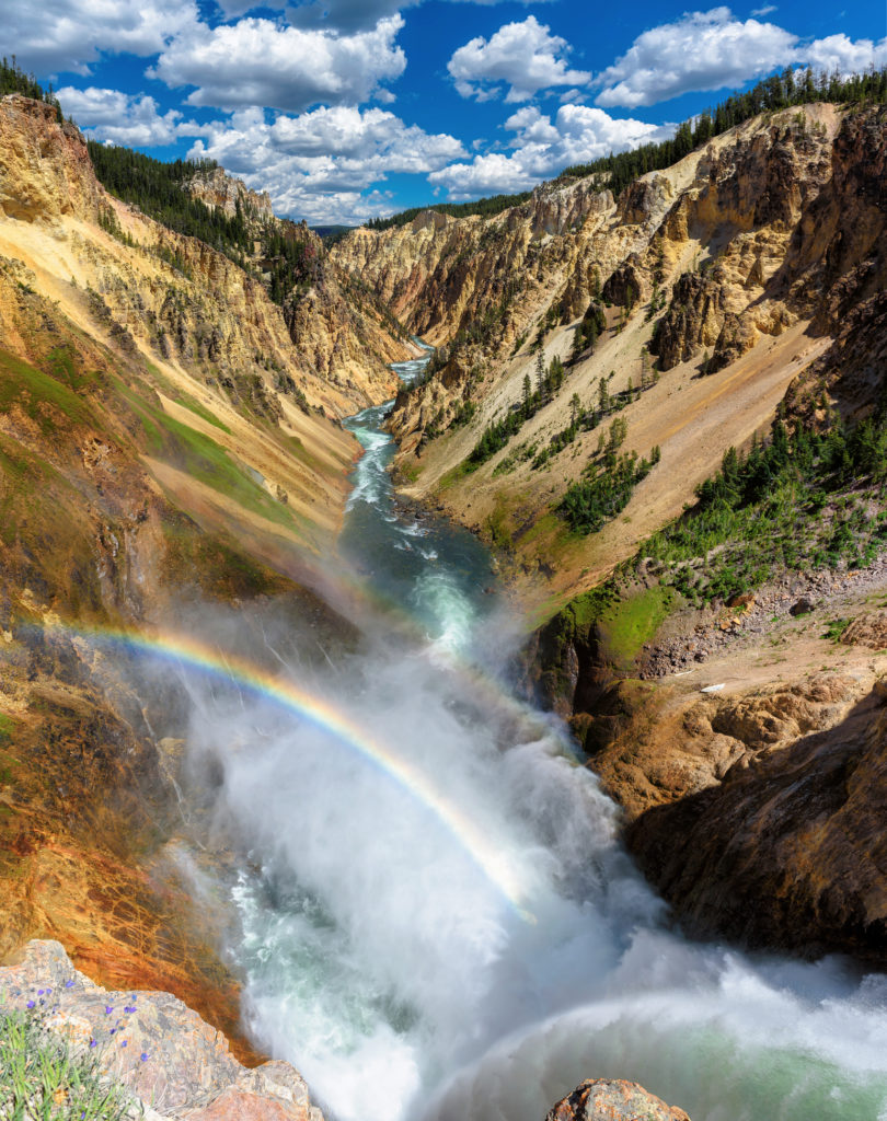Lower Falls on the Grand Canyon in Yellowstone National Park, WY, USA