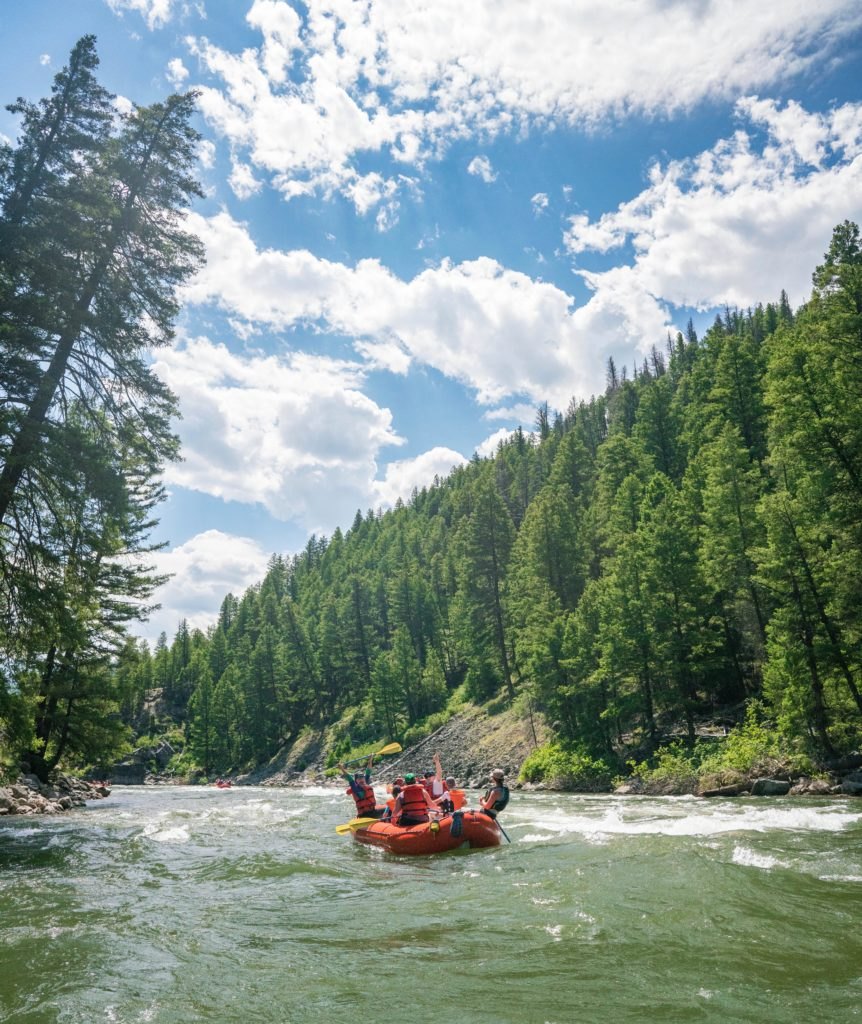 White water rafting on the Salmon River in Idaho.