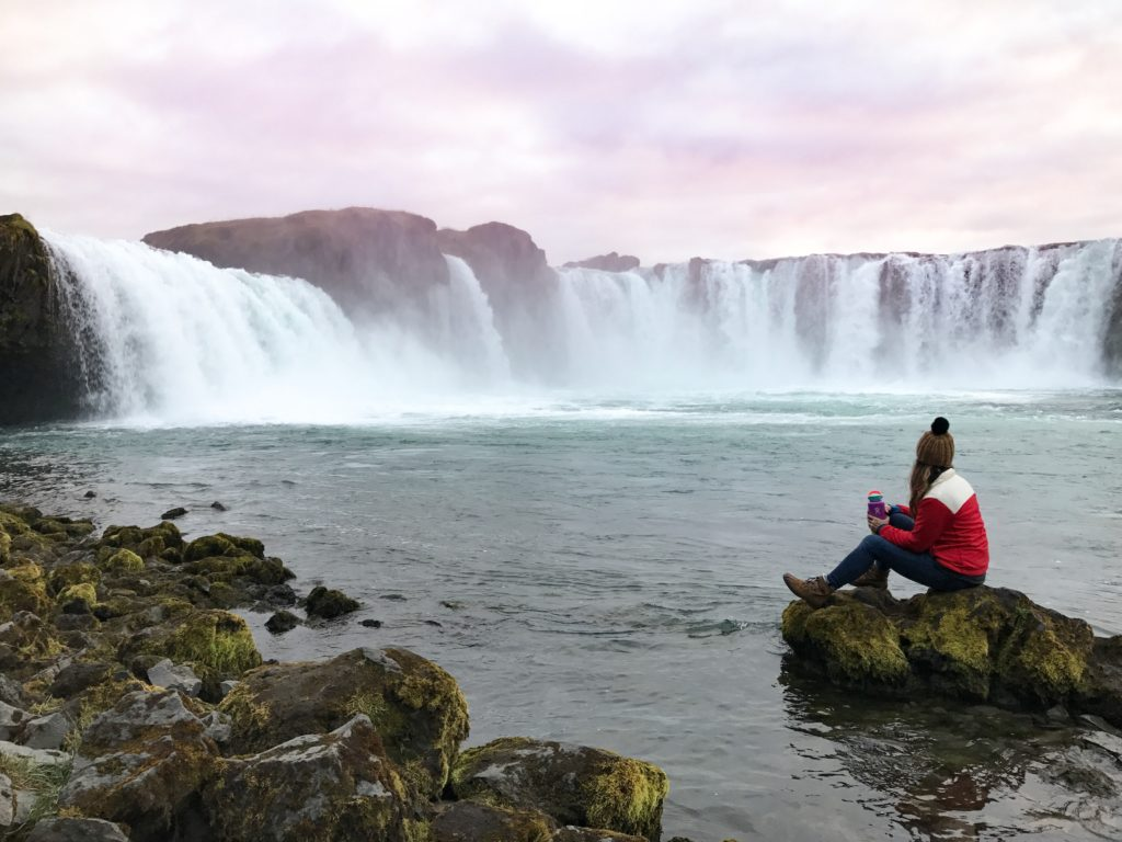 Sunset at Godafoss, North Iceland