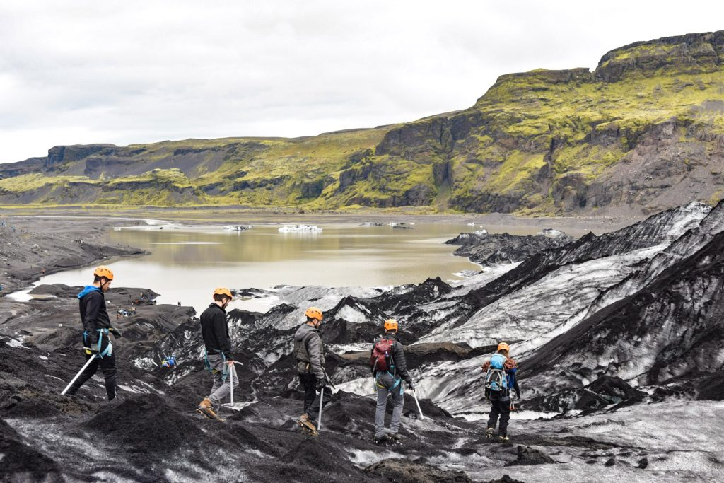 Glacier hike on Solheimajokull South Iceland with Arctic Adventures