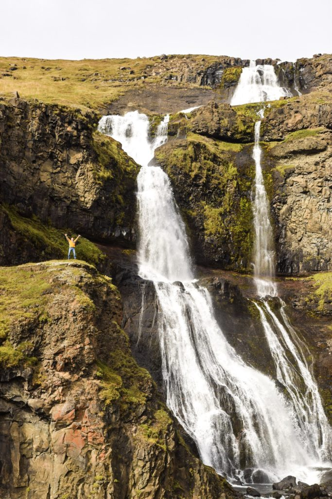 Waterfall off Ring Road, North Iceland