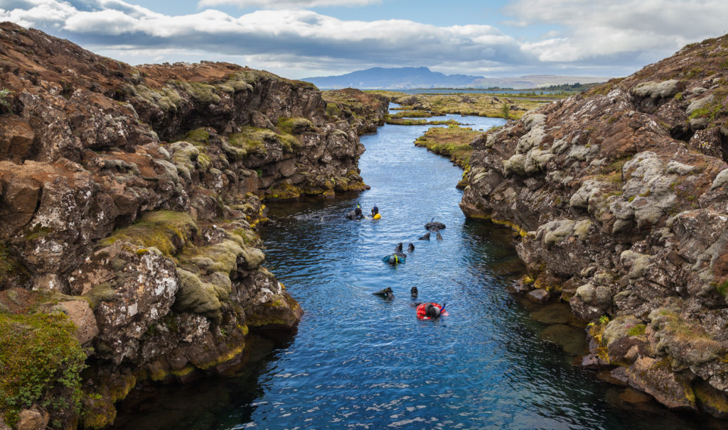 Silfra fissure, Golden Circle, Iceland
