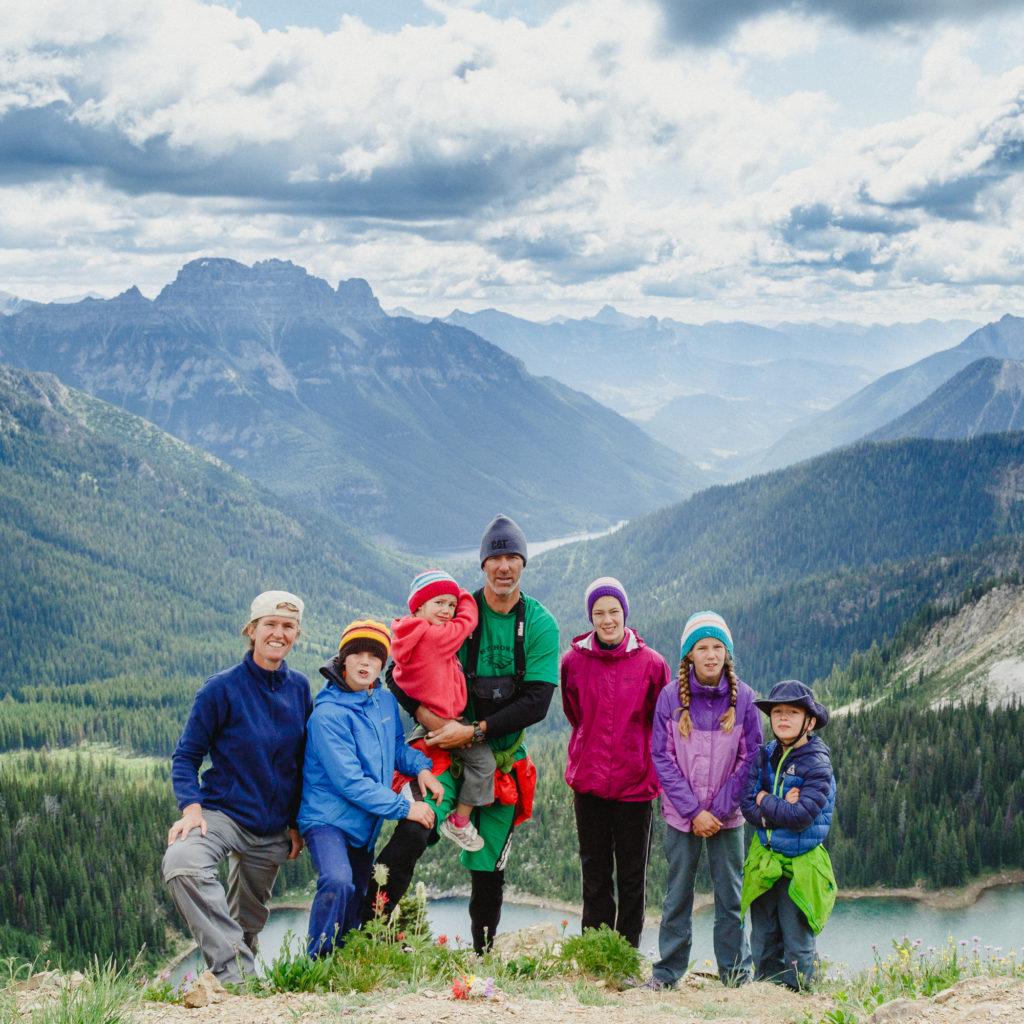 Nanninga family in mountains of Canada