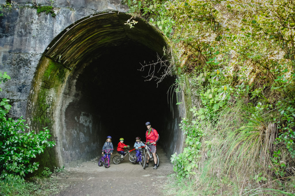Cycling on Old Coach Road Ohakune New Zealand
